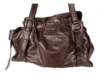 Miu Miu Bow bag Brown Leather Handbags