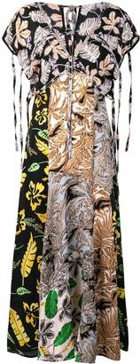 3.1 Phillip Lim Long Patchwork-Print Dress