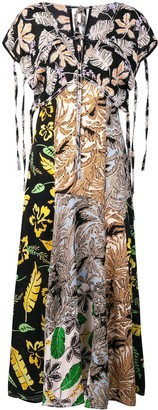 3.1 Phillip Lim Long Patchwork-Print Dress