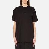 DKNY Women's Short Sleeve Crew Neck Oversized Kit Top with Logo Black