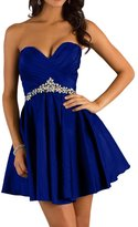 Audrey Bride Pretty Homecoming Dresses for Teens Short Prom Dress New Crystal - US