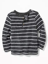 Old Navy Striped Sweater-Knit Henley for Toddler Boys