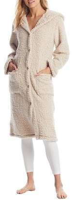 Donna Karan Hooded Fuzzy Robe