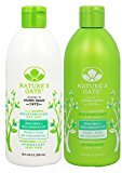 Nature's Gate Aloe Vera Moisturizing for Normal to Dry Hair, Duo Set Shampoo & Conditioner, 18 Oz Each Bottle