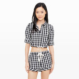 Club Monaco Solid & Striped Woven Crop