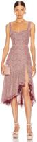 Jonathan Simkhai Lace Open Slit Bustier Dress in Sienna & Antique Rose | FWRD