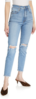 Nobody Denim Frankie Distressed Stretch Ankle Jeans