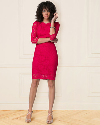 Le Château Lace Boat Neck Shift Dress