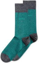 HUGO BOSS Men's Textured Dress Socks