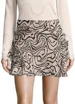 Derek Lam Women's Ruffled Silk Mini Skirt