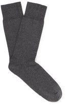 John Smedley Eros Sea Island Cotton-blend Socks - Anthracite