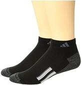 adidas Climalite(r) X II Low Cut Socks 2-Pack (Black/Black/Onix Marl/White/Onix) Men's Low Cut Socks Shoes