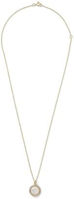 Ippolita 18kt yellow gold mini Lollipop mother-of-pear, diamond and clear quartz pendant necklace