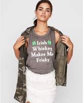 Express irish whiskey burnout graphic tank