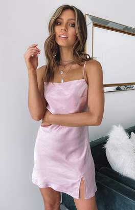 Beginning Boutique Jordyn Dress Pink Satin