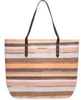 Dorothy Perkins Womens Coral Stripe Beach Bag- Coral
