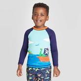 Cat & Jack Toddler Boys' Dino Print Long Sleeve Rash Guard Swim Shirt - Cat & JackTM Navy/Aqua