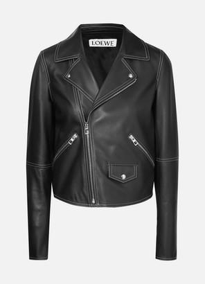 Loewe Leather Biker Jacket - Black