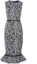 Oscar de la Renta printed peplum dress - women - Cotton/Nylon/Spandex/Elastane - 8