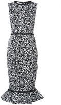 Oscar de la Renta printed peplum dress