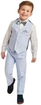 Nautica Toddler Boys 4-Pc. Blue Oxford Vest Set
