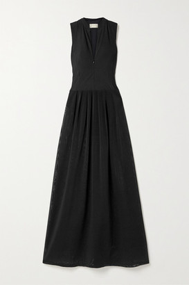 Zeus+Dione ZeusDione - Sirens Stretch-jersey And Mesh Maxi Dress - Black