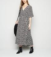 New Look Brave Soul Floral Wrap Maxi Dress