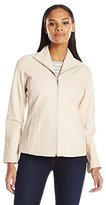 Cole Haan Women's Wing Collar Leather Jacket
