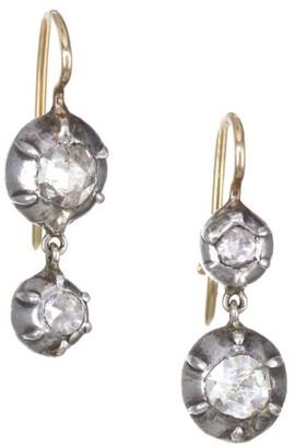 Renee Lewis 18K Gold & Sterling Silver Diamond Drop Earrings