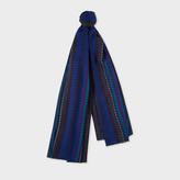 Paul Smith No.9 - Men's Navy Silk-Blend Scarf