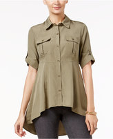 ECI Utility Swing High-Low-Hem Shirt