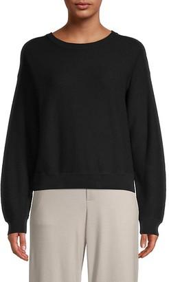 Vince Crewneck Waffle-Knit Cotton Sweater