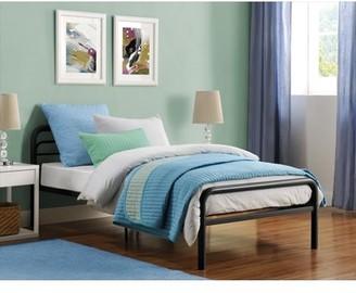 DHP Metal Twin Bed, Multiple Colors - Black