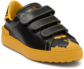 Valentino Bat Leather Printed Sneaker
