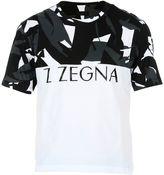 Ermenegildo Zegna White/black Logo T-shirt