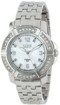 Burgi Women's BUR069SS Stainless Steel Diamond Bracelet Watch