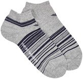 Emporio Armani Grey Striped Trainer Socks - Set Of Two