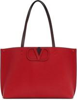 Valentino Garavani Small V-Logo Leather Tote