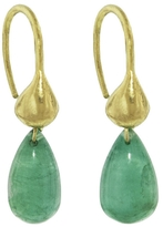 Ten Thousand Things Emerald Briolette Bump Hoop Earrings