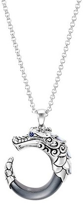 John Hardy Legends Naga Silver, Blue Sapphire, Hematite & Mother-Of-Pearl Pendant Necklace