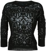 Twin-Set embroidered knit jumper