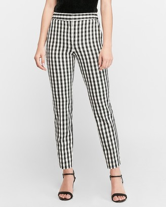 Express High Waisted Gingham Ankle Pant