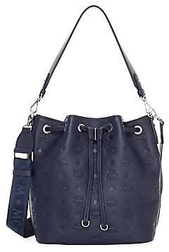 MCM Women's Essential Monogram Leather Bucket Bag