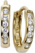 Giani Bernini Cubic Zirconia Small Hoop Earrings in 18k Gold over Sterling Silver