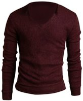 SODIA(R) Men Casua Sim Fit V-neck Knitted Cardigan Puover Jumper Sweater Tops Back
