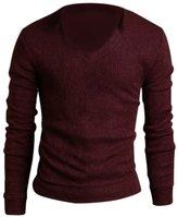 SODIAL(R) Men Casual Slim Fit V-neck Knitted Cardigan Pullover Jumper Sweater Tops Black