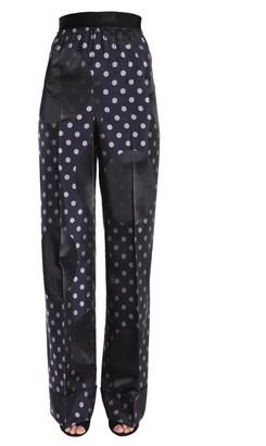 Maison Margiela Wide Legged Polka Dot Pants