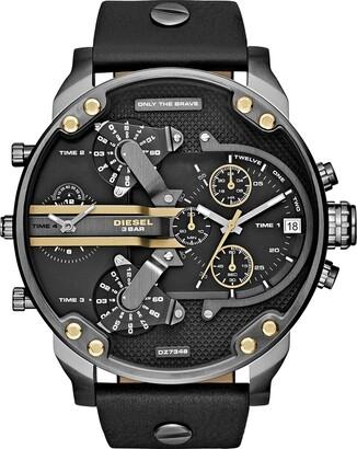 Diesel Men's Mr. Daddy 2.0 Quartz Leather Multifunction Watch