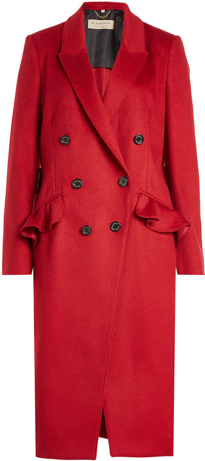 Burberry Wool Coat with Cashmere
