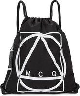 McQ Black Logo-print Nylon Backpack